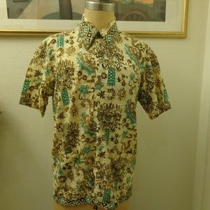 Vintage Dragon Print Short Sleeve Shirt